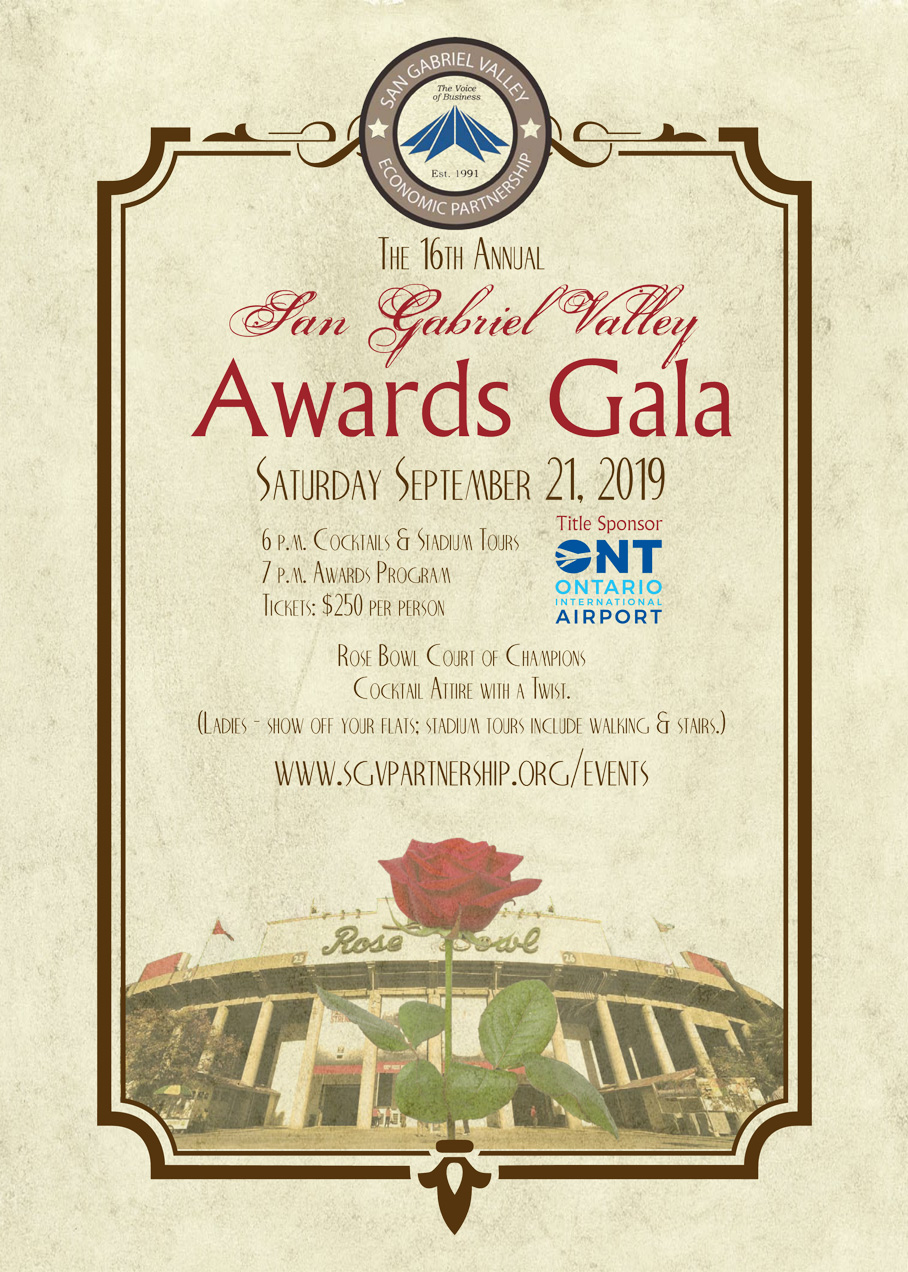 San Gabriel Valley Economic Partnership - SGV Awards Gala